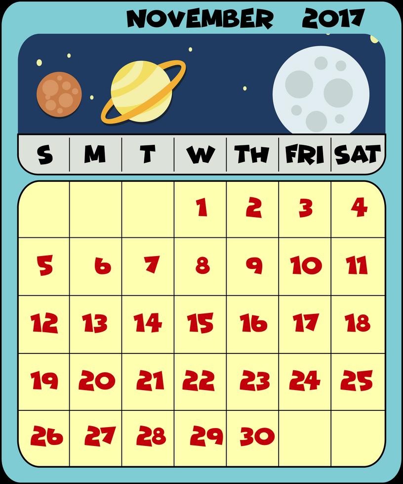 Calendar Month by Shipahn