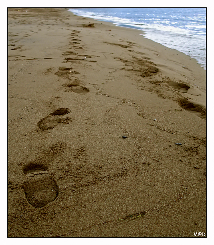 Original Footprints In The Sand Poem Mary Stevenson Footprints In The Sand...