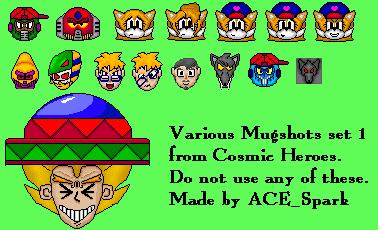 Cosmic Hero Mugshot Set 1 by ACE-Spark