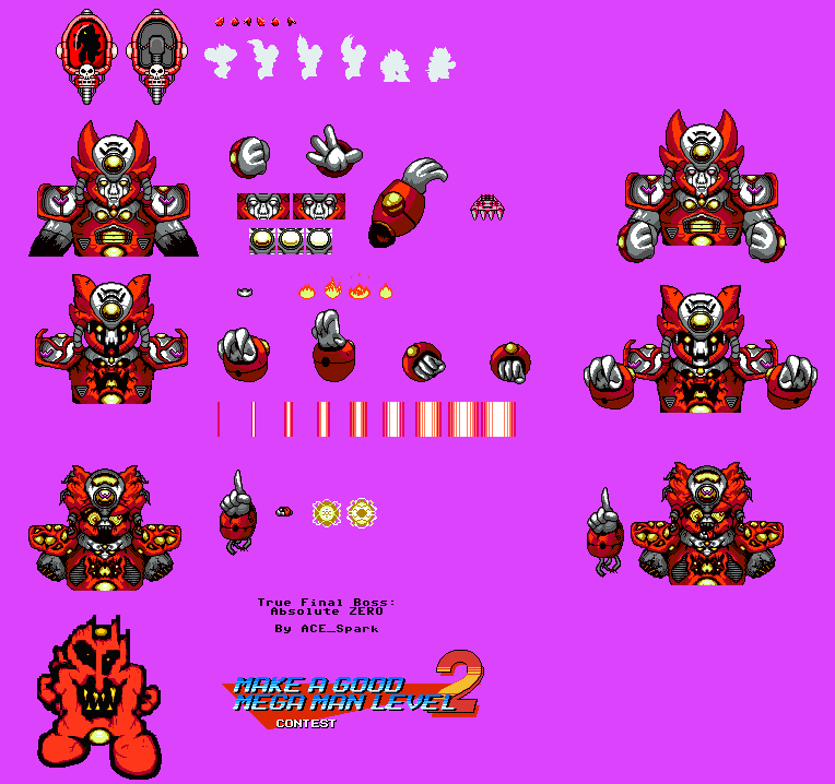 Make a Good Mega Man Level 2 - Absolute ZERO Sheet by ACE-Spark