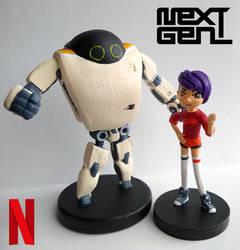 Next Gen   Netflix  Sculptures by guyolsson