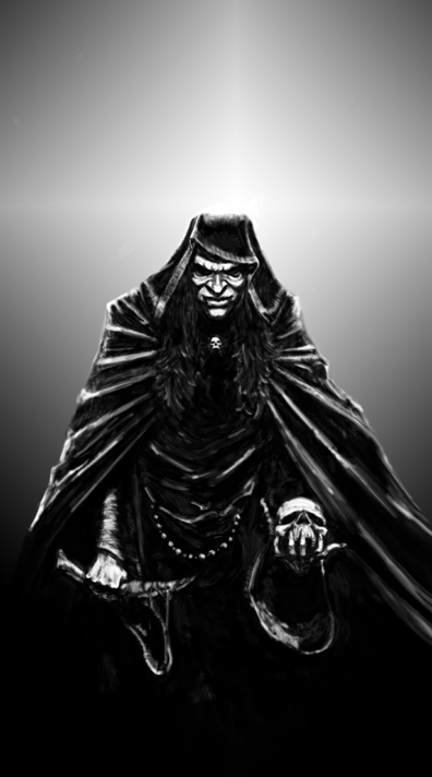 cleric of skulls. by beelzebuddha