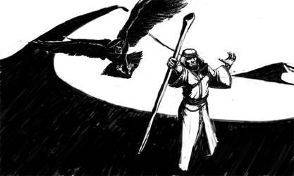 desert wizard. by beelzebuddha