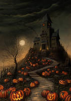 Halloween Mansion by MorJer