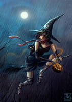 Halloween Witch by jerry8448