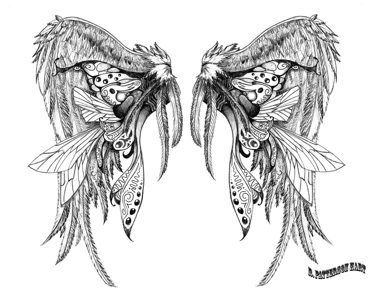 wing tattoo design II by