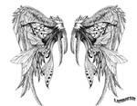 wing tattoo design II