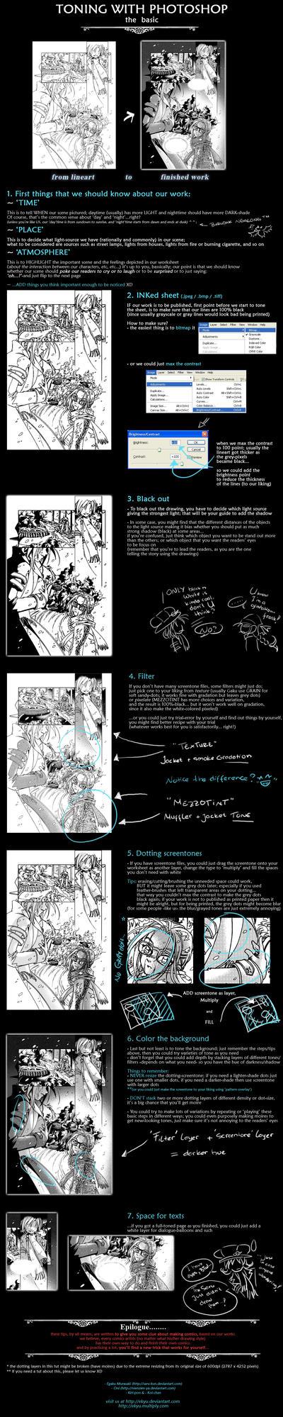 Comics: Toning with Photoshop by ekyu