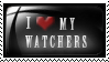 STAMP: I love my watchers by pinoleny