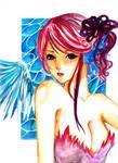 One winged mermaid