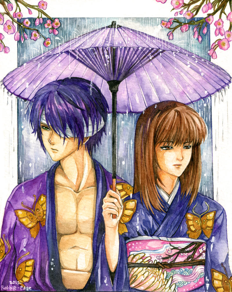 Local Commish:ShinsukeTakasugi X Lady Une by Rabbit-Edge