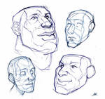 SKETCHES LXD Human FACES Male 1 2