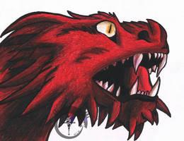 Dragon Head by magixkat