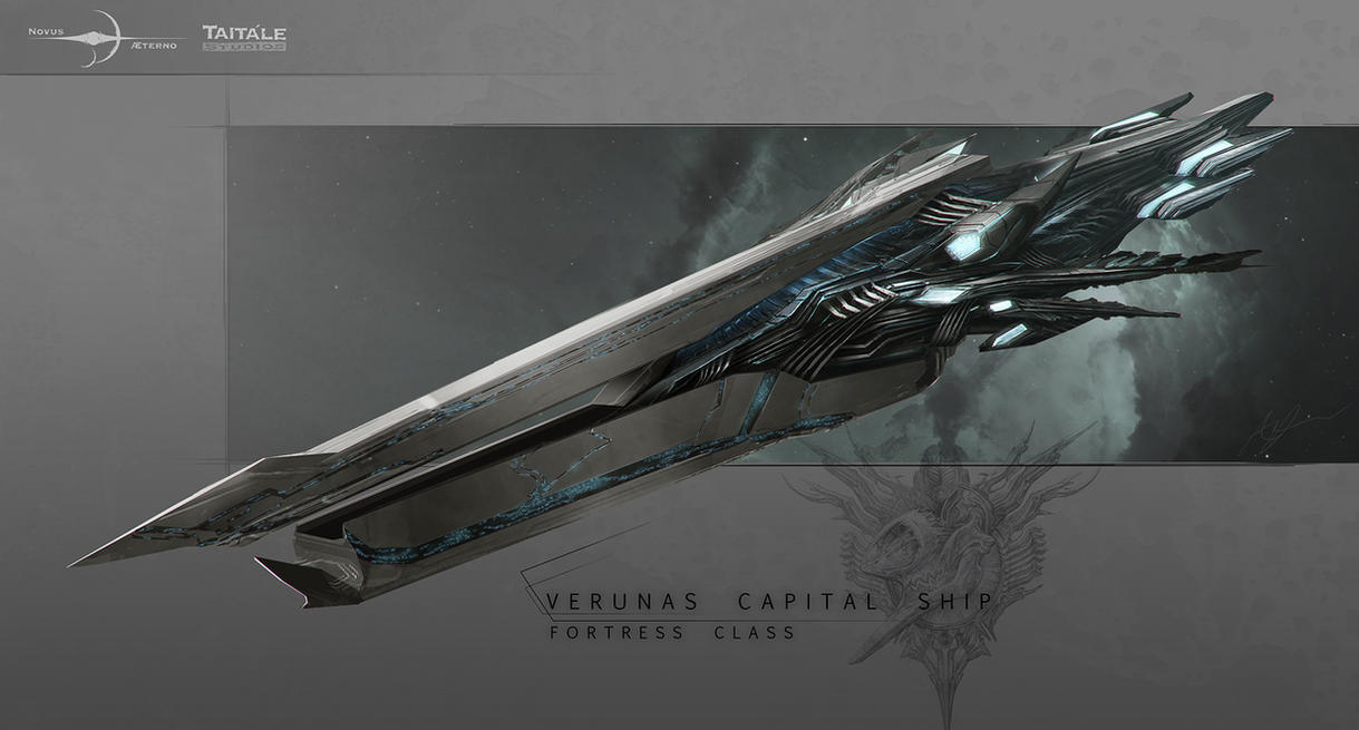 Novus Aeterno - Verunas Fortress Class Final by AdamBurn