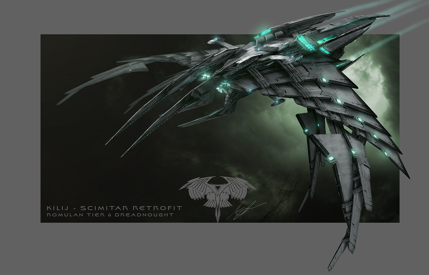 Star Trek Online - Kilij Romulan Dreadnought by AdamBurn