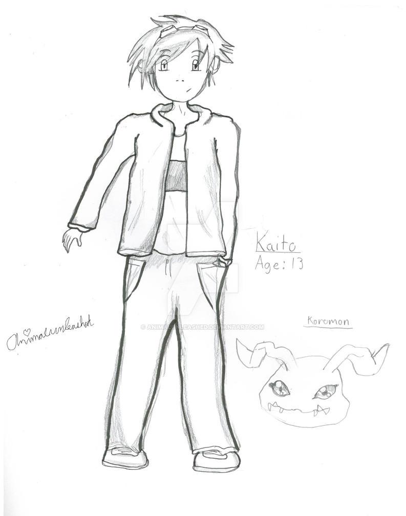 Kaito Kobayashi and Koromon character Bio by Animalunleashed