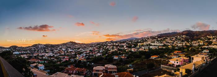Panoramic of Funchal Sunset