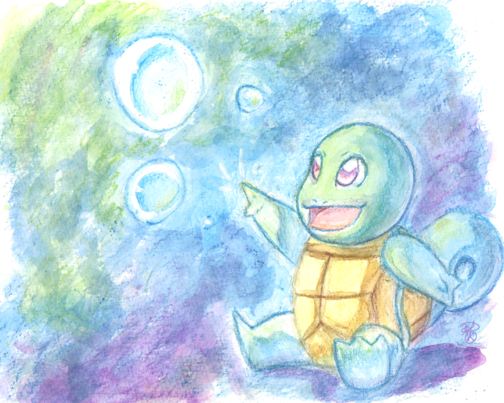 Squirtle Watercolor Pencil by Dezby