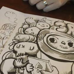 3rdYearWedding Anniv Doodle