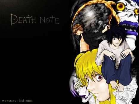 DEATHNOTE L Collage Wallpaper
