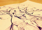 Devil Doodle closeup