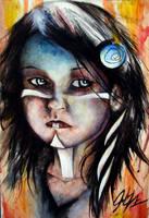 Sad Girl by JohnVitaleArt