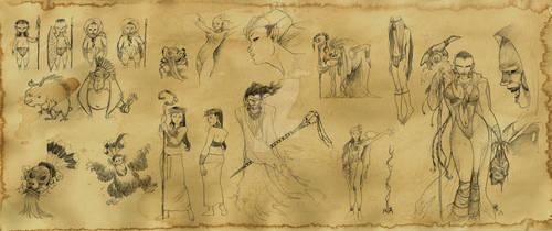 Dayak characters