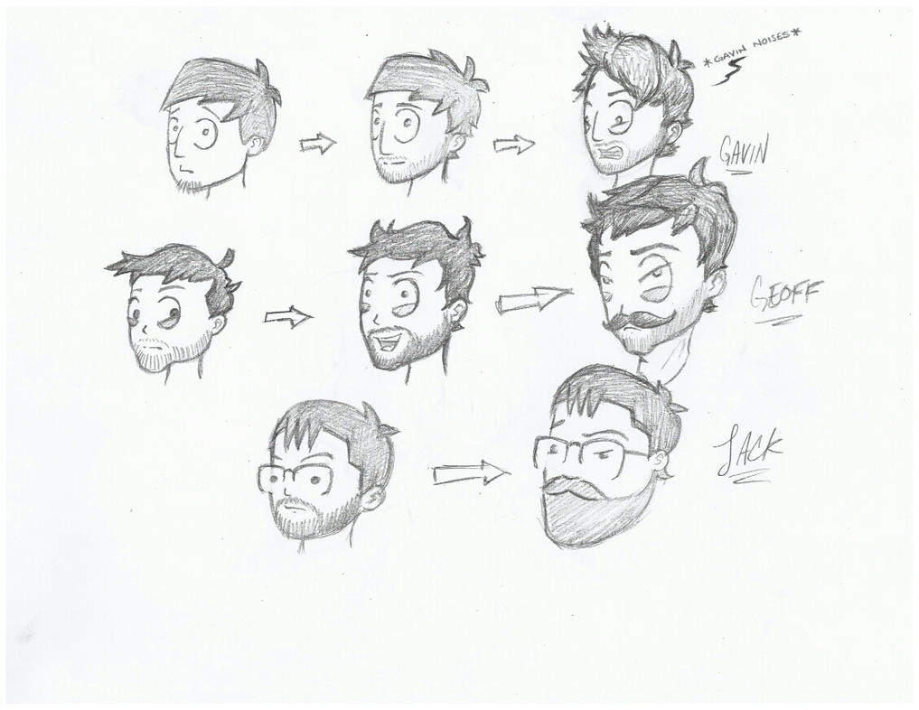 Character Design Evolution : Evolution of character design by mrninja on