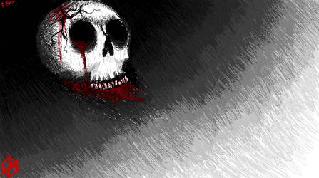 anarchy skull MSpaint