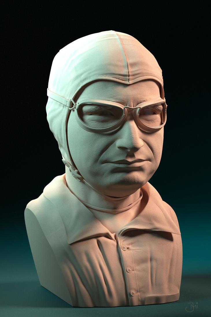 3D Sculpt - Juan Manuel Fangio by Maxiator