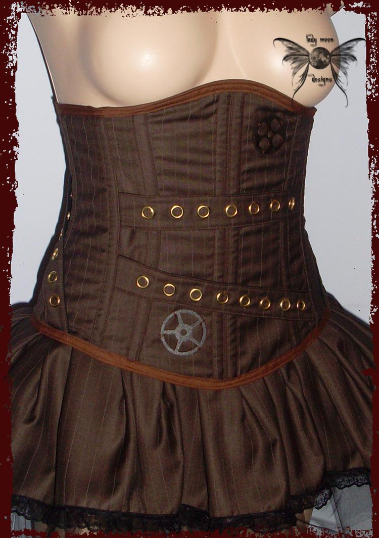 Steampunk waist cincher by annaladymoon