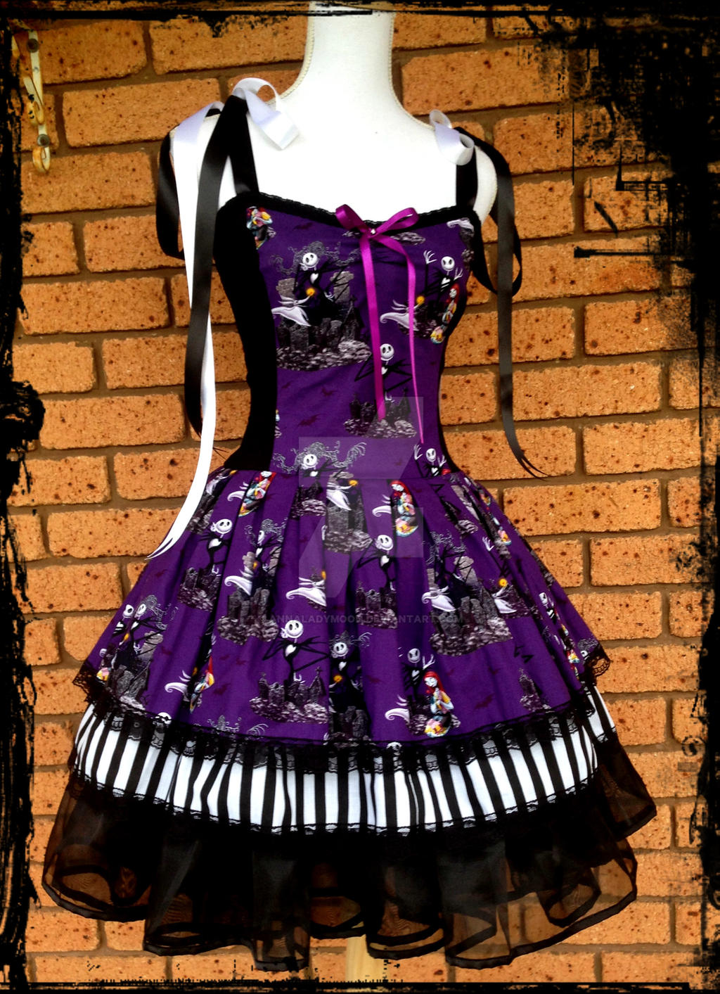 Nightmare Before Christmas Dress by annaladymoon on DeviantArt