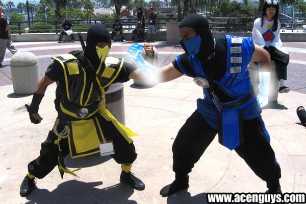 all sub zero costumes. sub zero and scorpion