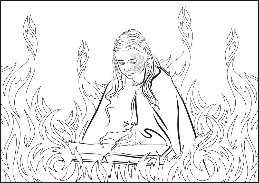 Shireen Baratheon Coloring Page By MarinaPacurar