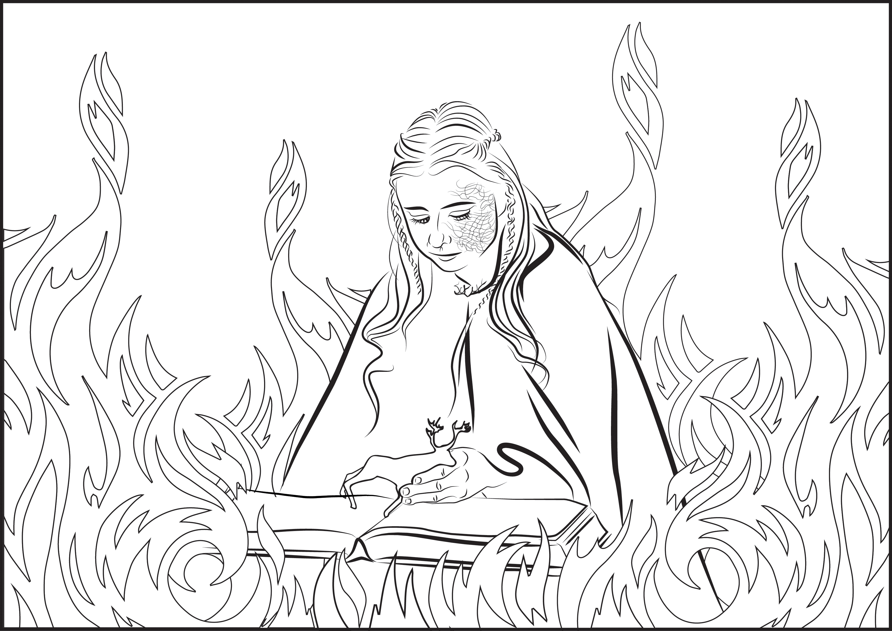 Shireen Baratheon Coloring Page By MarinaPacurar