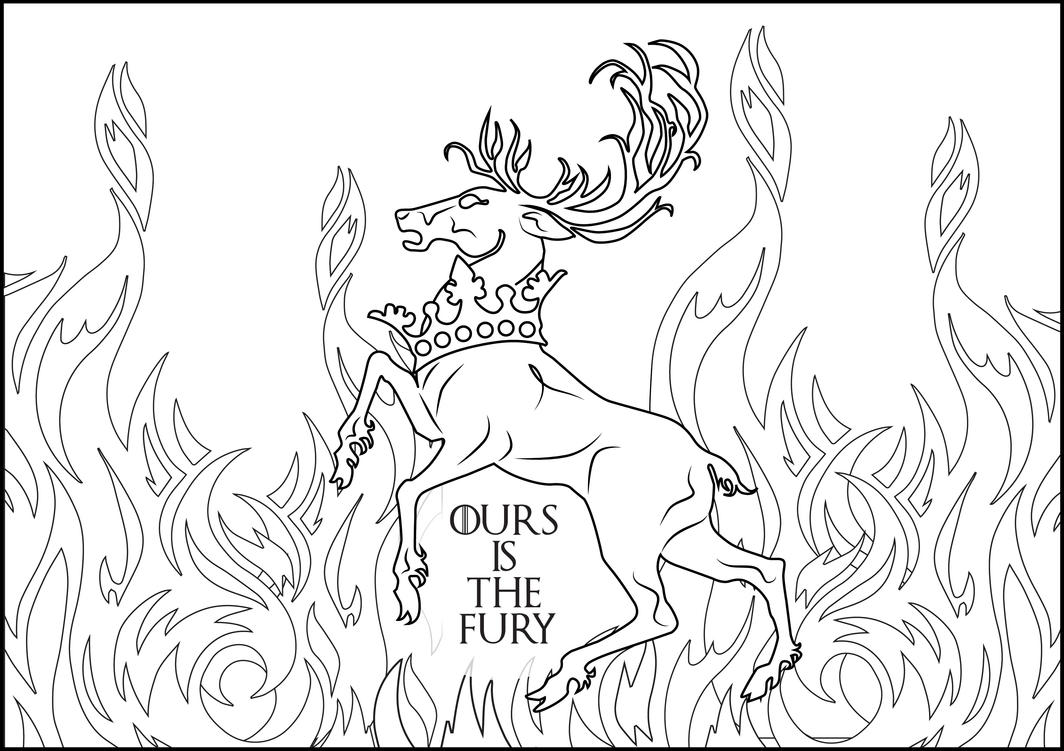 Baratheoon OURS IS THE FURY Coloring Page FREE By MarinaPacurar