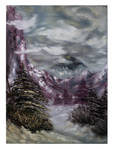 Winter Landscape Oil Painting by MarinaPacurar