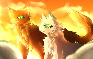 Firestar and Sandstorm | Redraw by Frostedlleaf