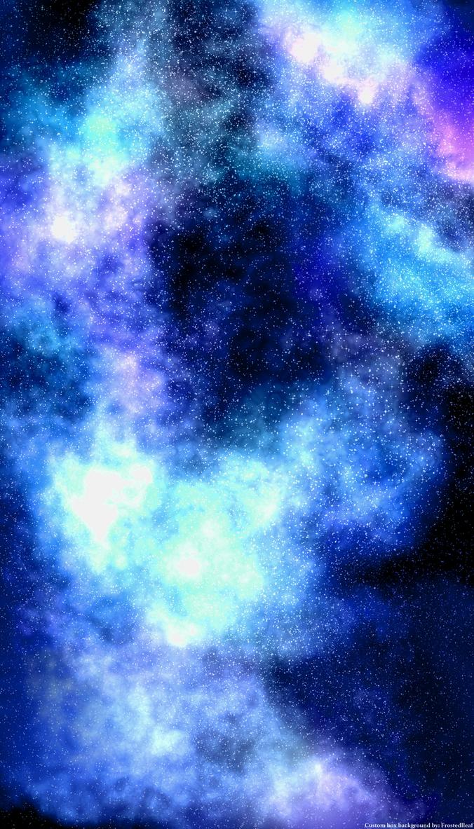Galaxy Custom Box Background Dark Blue By Frostedlleaf