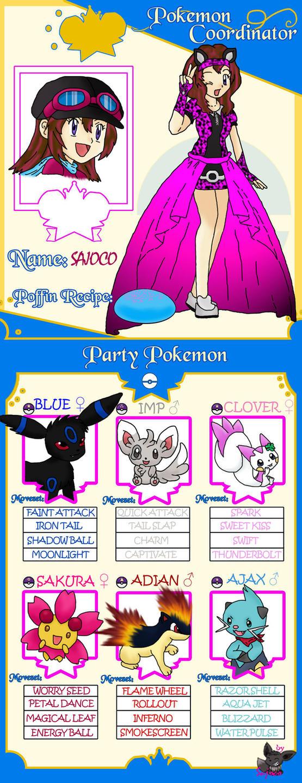 Pokemon Coordinator Sajoco by SajocosAngel