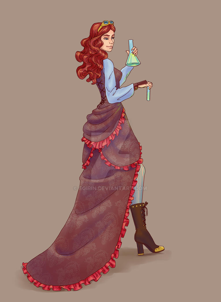 steampunk women by Egirin