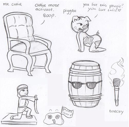Pewdiepie Doodles by Lady-AnnJoanne
