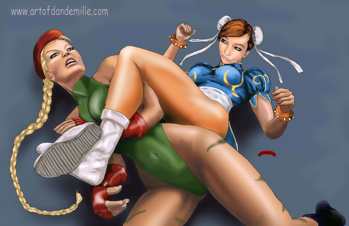 Chun Li vs. Cammy by Dan-DeMille
