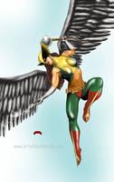 Hawkgirl by Dan-DeMille