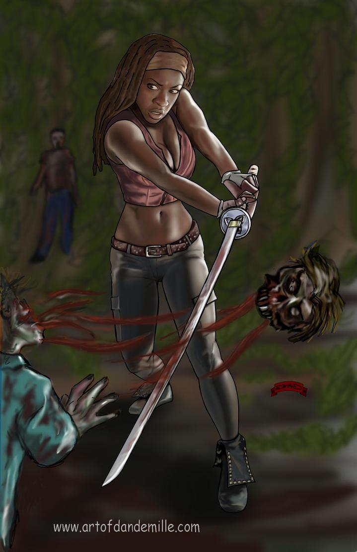 Michonne by Dan-DeMille