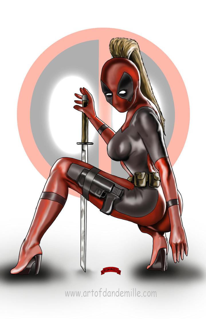 Lady Deadpool by Dan-DeMille