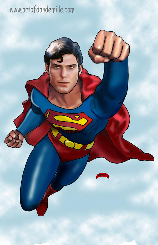 Christopher Reeve, Superman by Dan-DeMille