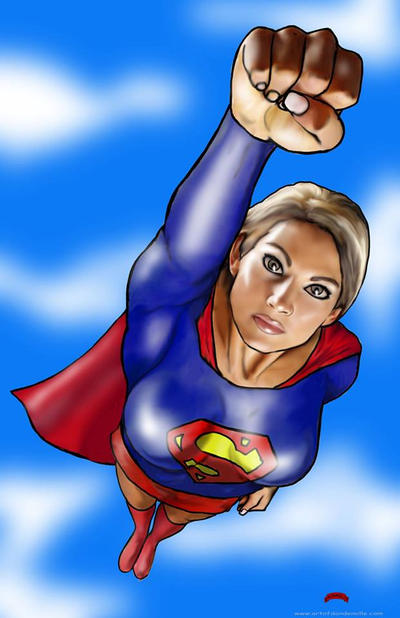 Supergirl Fist by Dan-DeMille