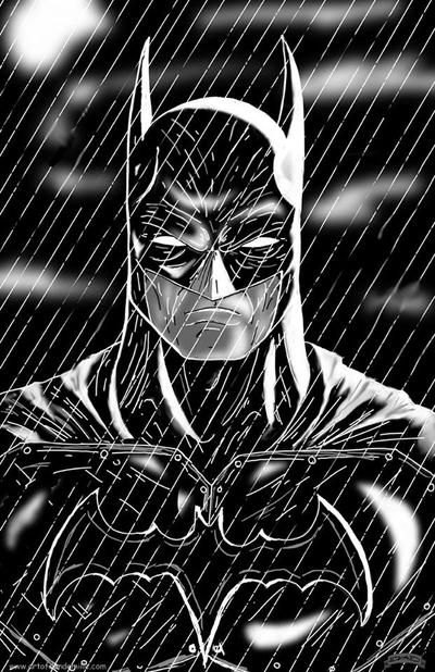 Batman Rain by Dan-DeMille