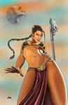 Slave Leia by Dan-DeMille